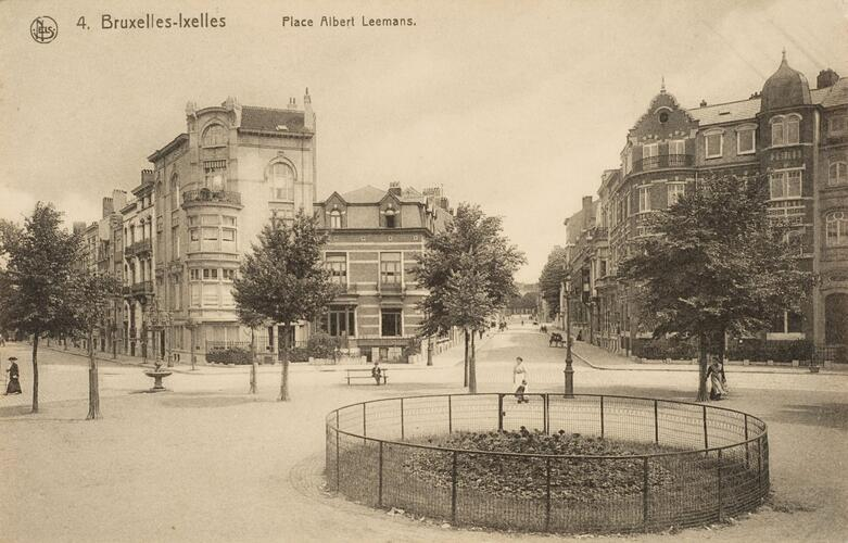 Vue de la place Leemans, s.d. (Collection de Dexia Banque)