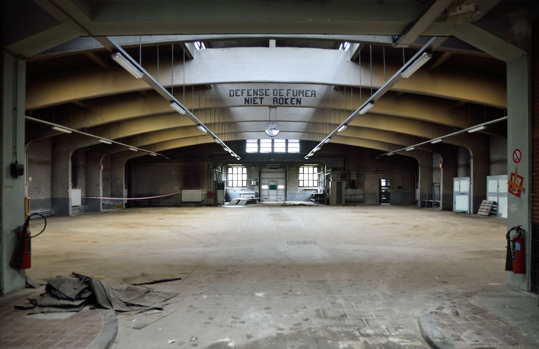 Evere voormalige garage voor lijkwagens kerkhof van brussellaan