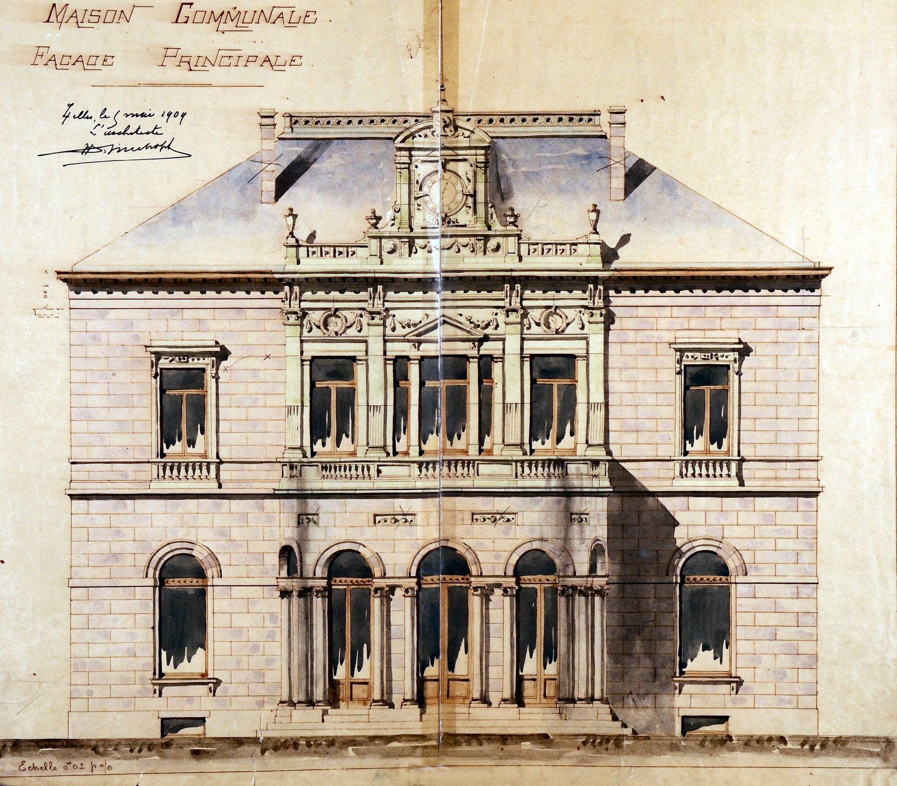 Inventaire du patrimoine architectural bruxelles ixelles for Auderghem maison communale