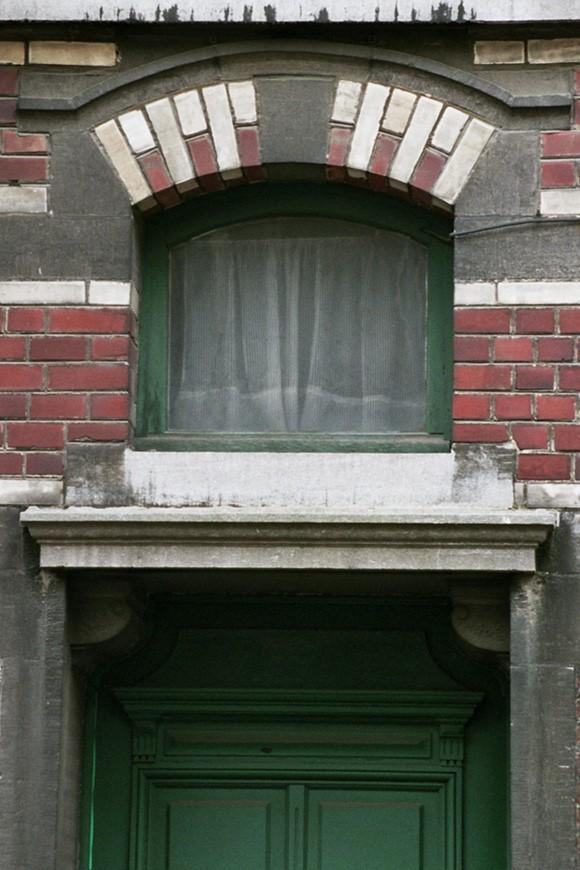 fen tre en dessus de porte rue potag re 100 saint josse ten noode 1901 1902. Black Bedroom Furniture Sets. Home Design Ideas
