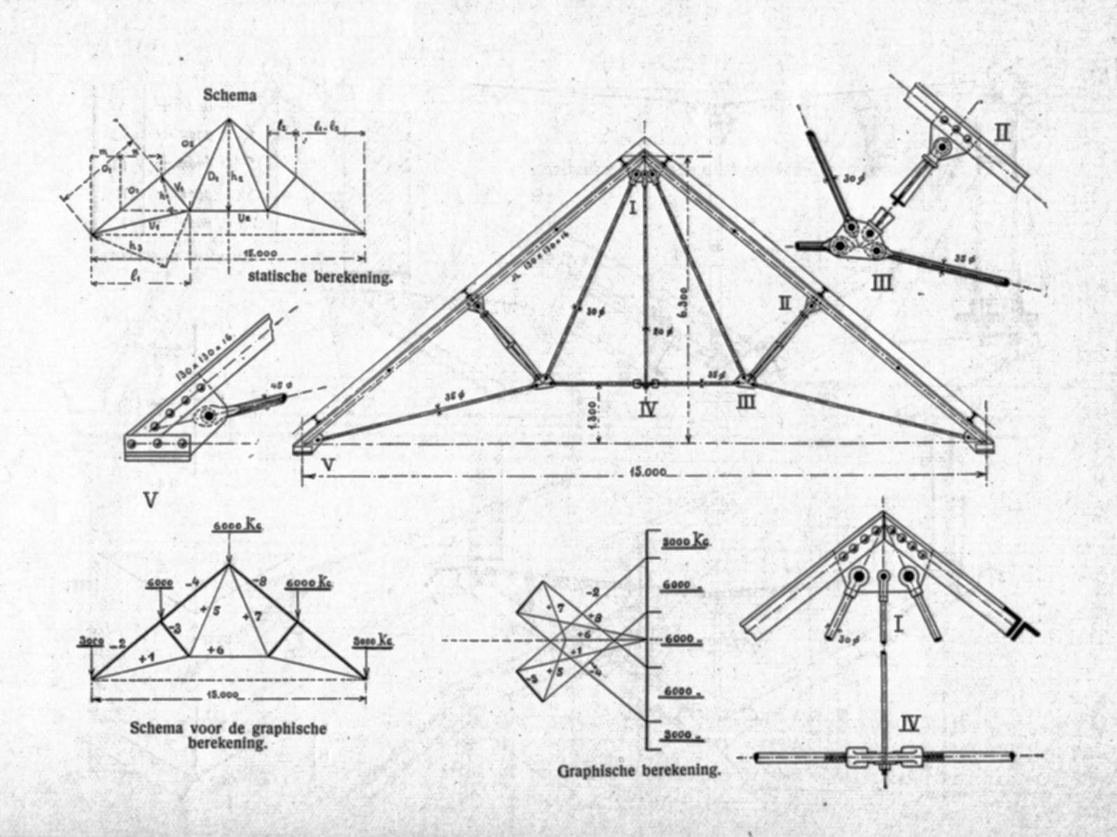 ferme polonceau zwiers l van delden j handboek der burgerlijke bouwkunde deel 3. Black Bedroom Furniture Sets. Home Design Ideas
