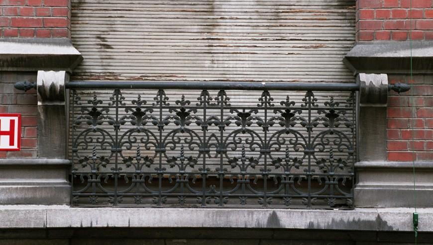 garde corps droit rue potag re 90 saint josse ten noode 1901 architecte d fach. Black Bedroom Furniture Sets. Home Design Ideas