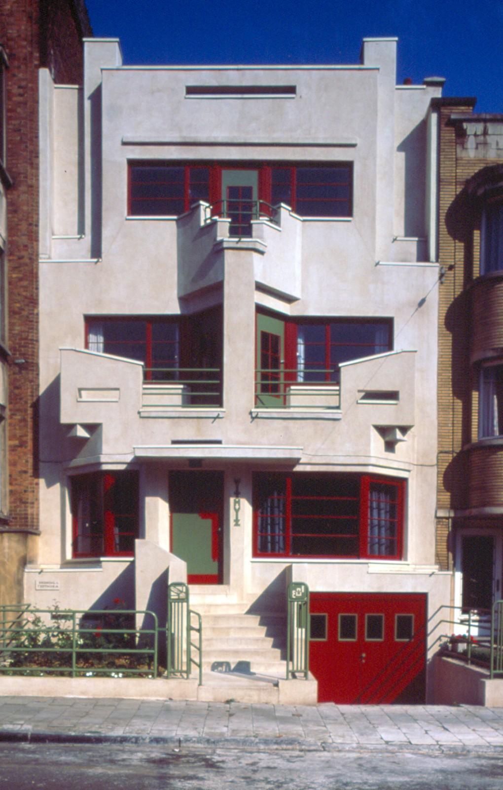 Art d co withuis av charles woeste 183 jette 1927 architecte joseph diongre - Deco huizen ...